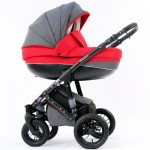 Krausman - Carucior 3 in 1 Contempo Red-Gray